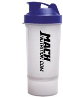 Mach Nutrition PP8 650 Ml Shaker, Bottle, Sipper (Pack Of 1, Transparent, Blue Cap)