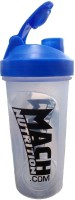 Mach Nutrition PP5 650 Ml Shaker, Bottle, Sipper (Pack Of 1, Transparent, Blue Cap)