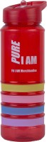 Fit I AM Frizzy Blue 600 Ml Sipper (Pack Of 1, Red)