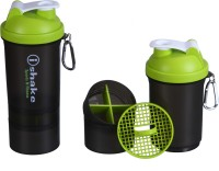 IShake 019 Two Storage Green Cap 500 Ml Bottle (Pack Of 1, Green, Black)