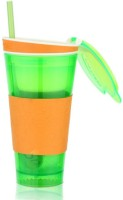 Dizionario Snackeez Multi Purpose Drink & Snack Travel Cups Mug 550 Ml Sipper (Pack Of 1, Green)