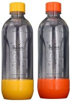 Mr. Butler PET Bottle 1 L Bottle Pack Of 2, Orange, Yellow