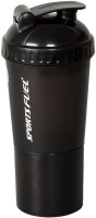 Technix Protein Shaker Regular 700 Ml Sipper (Pack Of 1, Black) - BOTEEYX2KKVEGGAQ