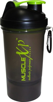 MuscleXP Smart PRO Gym With Strainer - Design 1 500 Ml Shaker (Pack Of 1, Black Transparent)