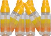 Harshpet Fridge Bottle- Rainbow Glass- Orange 1000 Ml Bottle (Pack Of 6, Orange)