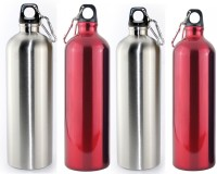 Shree Shop Alflask 750 Ml Flask (Pack Of 4, Red, Silver)
