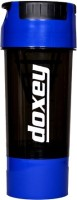 DOXEY Cyclone Protein 500 Ml Shaker, Bottle, Sipper (Pack Of 1, White, Black)