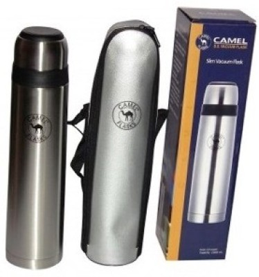 Camel Slim 1000 Ml Flask (Pack Of 1, Silver)
