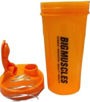 BIGMUSCLE PROTEIN 600 Ml Shaker (Pack Of 1, ORANGE)