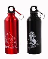 Avenue Sporty Look 500 Ml Bottle (Pack Of 2, Black, Red)
