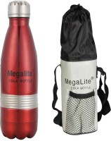 MegaLite Stainless Steel Cola 750 Ml Flask (Pack Of 1, Red)