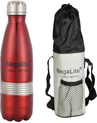 MegaLite Stainless Steel Cola Bottle 1000 Ml Flask (Pack Of 1, Red)