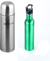 Birde Decntsip-30 500 Ml Flask (Pack Of 2, Silver, Green)