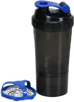 Fuel Shake Speed 500 Ml Shaker, Sipper, Bottle (Pack Of 1, Black & Blue)