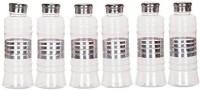 SKI Fridge Bottles With Steel Lid Small 500 Ml Bottle (Pack Of 6, Transparent)