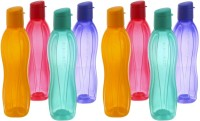 Tupperware Fliptop 750 Ml Bottle (Pack Of 8, Green, Purple, Yellow, Magneta)