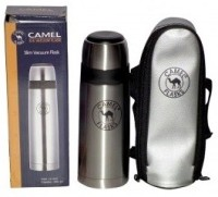 Camel Slim 350 Ml Flask (Pack Of 1, Silver)
