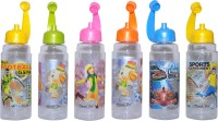 Harshpet Koddikool Fliptop 650 Ml Bottle (Pack Of 6, Yellow, Green, Pink, Orange, Blue)