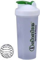 IShake 008 Translucent Body White Cap Green Lid 600 Ml Bottle (Pack Of 1, Translucent White)