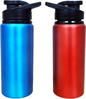 Phoenix Sports 600 Ml Bottle (Pack Of 2, Red, Blue)