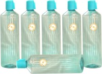 Harshpet Harshpet 1000ml 29mm Fridge Bottle_prince_transparent_blue 1000 Ml Bottle (Pack Of 6, Blue)