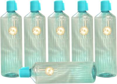 Harshpet Harshpet 1000ml 29mm Fridge Bottle_prince_transparent_blue 1000 Ml Bottle (Pack Of 6, Blue)