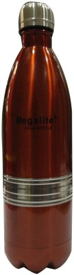 MegaLite Stainless Steel Cola Bottle 1000 Ml Flask (Pack Of 1, Orange)