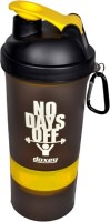 DOXEY Double Container 500 Ml Shaker, Bottle, Sipper (Pack Of 1, Yellow)