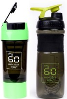 My 60 Minutes Pack Of Green Cyclone And Green Smart Shaker 760 Ml Bottle (Pack Of 2, Green, Green)