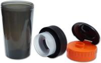 Excel Crafts Pro Style 500 Ml Sipper (Pack Of 1, Black, Orange)