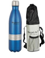 MegaLite Stainless Steel Cola Bottle 750 Ml Flask (Pack Of 1, Blue)