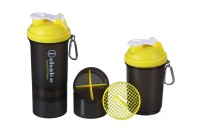 IShake 019 Two Storage Cap 500 Ml Bottle (Pack Of 1, Yellow, Black)