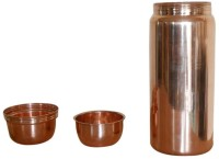 Prisha India Craft Pure Copper Water Thermos Without Joint High Quality 1850 Ml Bottle (Pack Of 1, Gold)