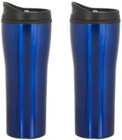 GADGE ALPHA COLOURED STEEL 550 Ml Sipper (Pack Of 2, Blue)