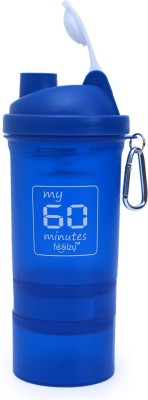 My 60 Minutes Shaker With 2 Storage Blue 500 Ml Bottle (Pack Of 1, Blue)