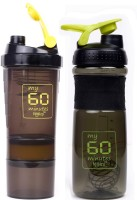 My 60 Minutes Pack Of Yellow Hulk & Green Smart Shaker 760 Ml Bottle (Pack Of 2, Yellow, Green)
