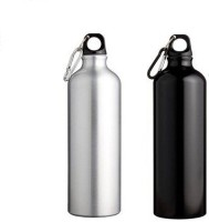 Phoenix Sports 750 Ml Bottle (Pack Of 2, Silver, Black)