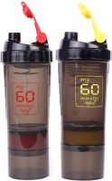 My 60 Minutes Pack Of Green & Yellow Hulk Shaker 500 Ml Bottle (Pack Of 2, Red, Yellow)