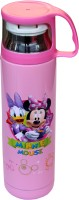 Scrazy Mickey Mouse Stainless Steel Water Bottle With Vacum Cup 500 Ml Bottle, Sipper, Flask (Pack Of 1, Pink)