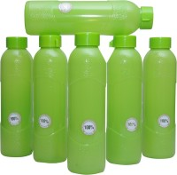 Harshpet Fridge Bottle- Alpha Green 1000 Ml Bottle (Pack Of 6, Green)
