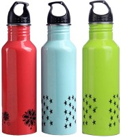 Pexpo PXPDPGB 750 Ml Bottle (Pack Of 3, Designer Peach, Designer Green And Designer Blue)