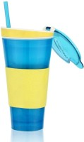 Dizionario Snackeez Multi Purpose Drink & Snack Travel Cups Mug 550 Ml Sipper (Pack Of 1, Blue)
