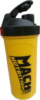 Mach Nutrition PP5 650 Ml Shaker, Bottle, Sipper (Pack Of 1, Yellow, Black Cap)