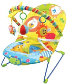 Toys Bhoomi Animals Themed Bouncer Keep's Baby Calm & Comfortable - Vibrating Chair
