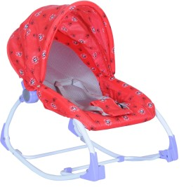 Happy Kids 2-in-1 Baby Rocker and Bouncer - Red