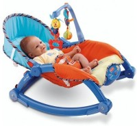 The Flyer's Bay Fiddle Diddle Newborn To Toddler Portable Baby Chair Cum Rocker (Blue)