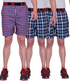 Laser X Checkered Men's Boxer