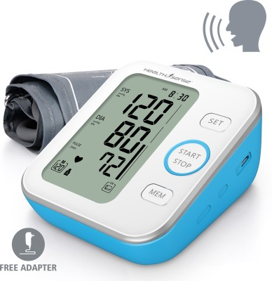 HealthSense Heart-Mate Deluxe BP-200 (Talking) Upper Arm Digital Bp Monitor (White, Blue)