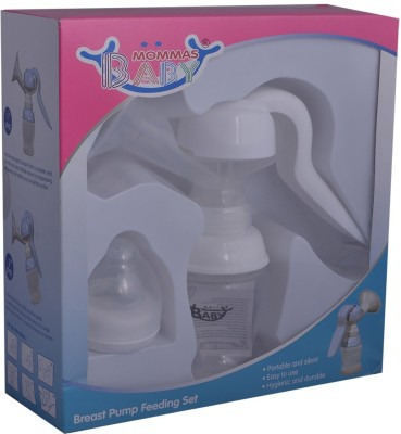 Mommas Baby Breast Pump Feeding Set  - Manual (White)