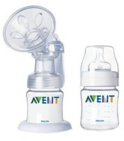 Philips Avent Avent Isis Breast Pump With 2 Bottles  - Manual (White)